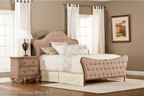 Antique Beige Bed