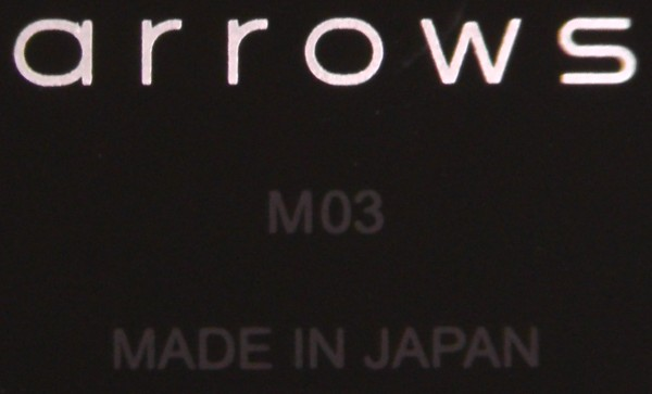 arrows M03 made in japan