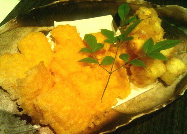 酒湊本店*とうもろこし天ぷら・クリームチーズ天ぷら
