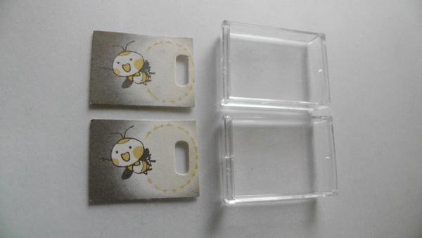ホタルのイラストカードと透明カバーWN9907