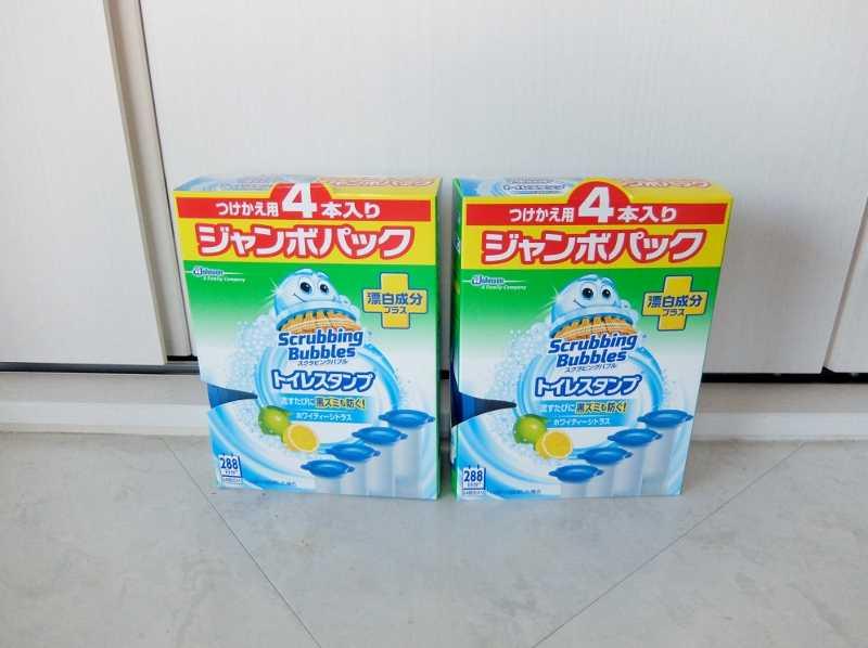 コストコで買った商品のレポ ブログ オンライン スクラビングバブル トイレスタンプ ホワイティシトラス 円