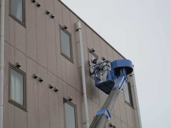 高所ガラス修理2
