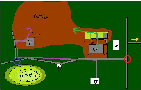 笠間城駐車場図