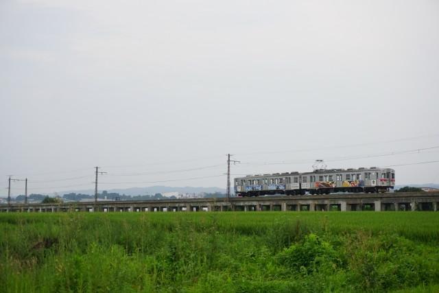 弘南鉄道 コンクリート橋から弘前2