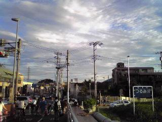 綱島の橋の向こう2012年8月