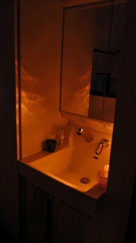 2階洗面所 常夜灯使用後