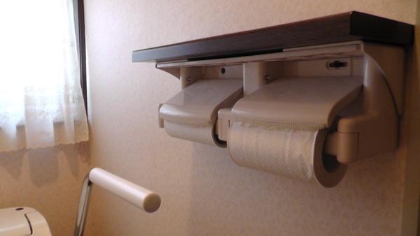 2連紙巻き器 トイレットペーパー残量
