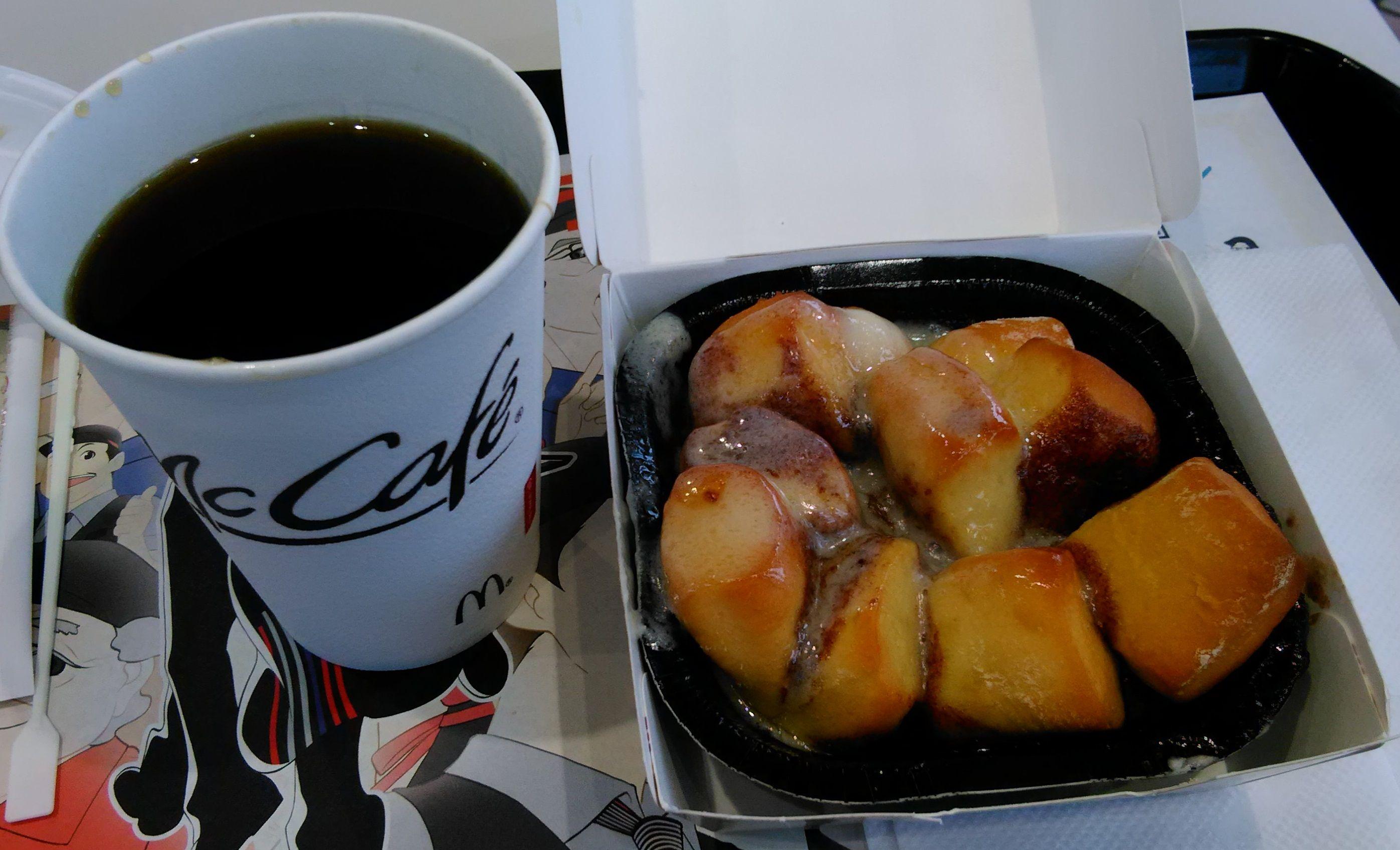 マクドナルドシナモンメルツ・無料ホットコーヒーS