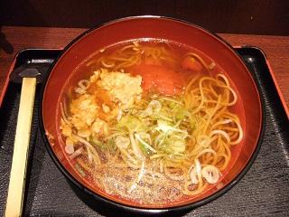 越後そば東京店@東京駅のトマトスープそば