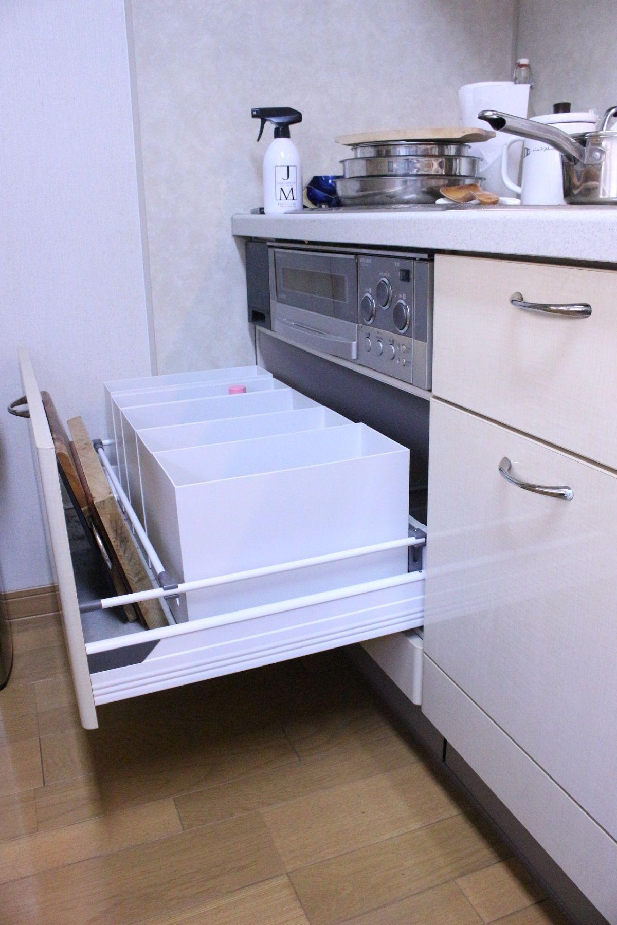 キッチンの壁 床 収納スペースの汚れをオキシクリーンで Kazuki