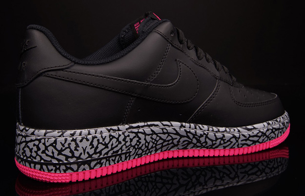 Air Force 1 Black/Hyper Pink-Wolf Grey 2