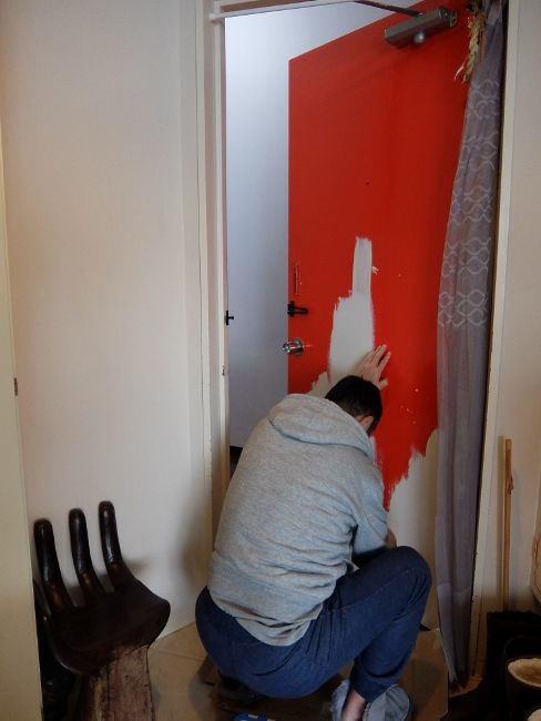 ペンキ ドア DIY