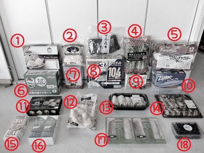 コストコで買った商品のレポ ブログ 食材 商品 購入 新商品 買い物