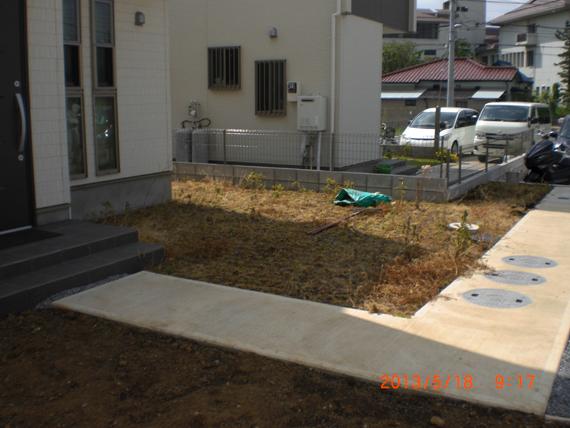お庭の雑草対策