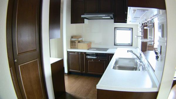 一条工務店オリジナルシステムキッチン L型ロングサイズ(KF3-45HBR)i-クオリティシリーズ