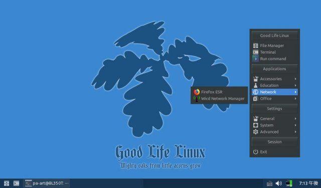 Good Life Linuxのデスクトップ