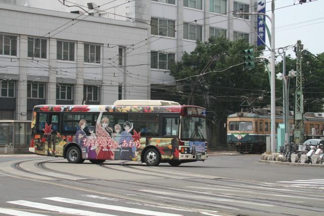 福井鉄道と アニメバス & モニメント