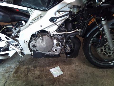 2013.04 3MAエンジン修理&CRM化粧直し 043(WP&OP見直し)