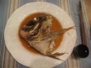 鯛の兜煮完成