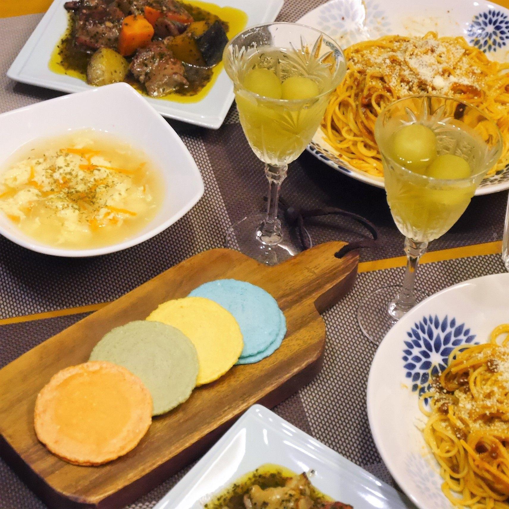 クアトロえびチーズ_食卓