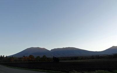 夕日の浅間高原