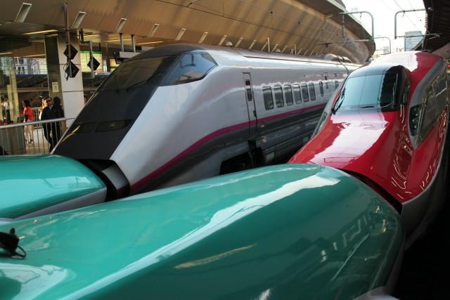 東京駅 連結 新幹線が 花盛り!3