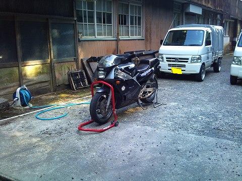 2012.07.14~16 レジェツー 025(帰宅洗車開始)