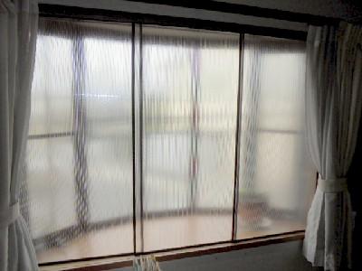 3枚型二重窓完成
