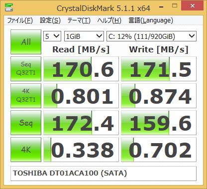 TOSHIBA DT01ACA100 (CrystalDiskMark 5)