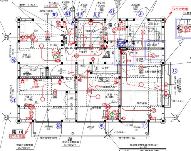 電気図面2F