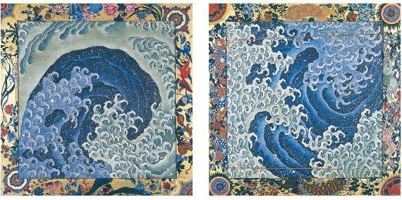 北斎展 富士を超えて あべのハルカス美術館 上町祭屋台天井絵「濤図」ビックウェーブ