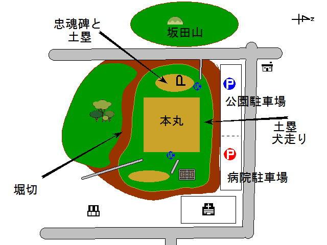鹿沼城地図