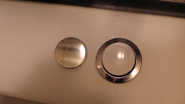 ポップアップ排水栓の押しボタン
