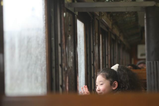 津軽鉄道 雨の ストーブ列車に乗る3