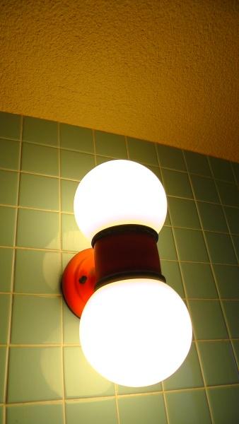 実家の浴室照明