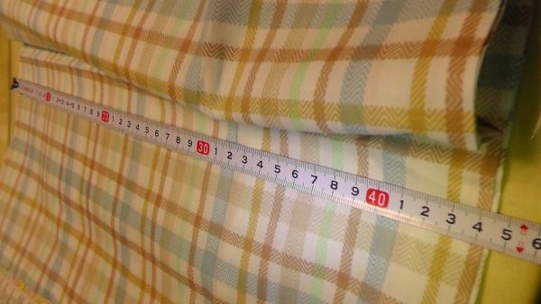 チェック柄の枕カバー(ピローケース) サイズ