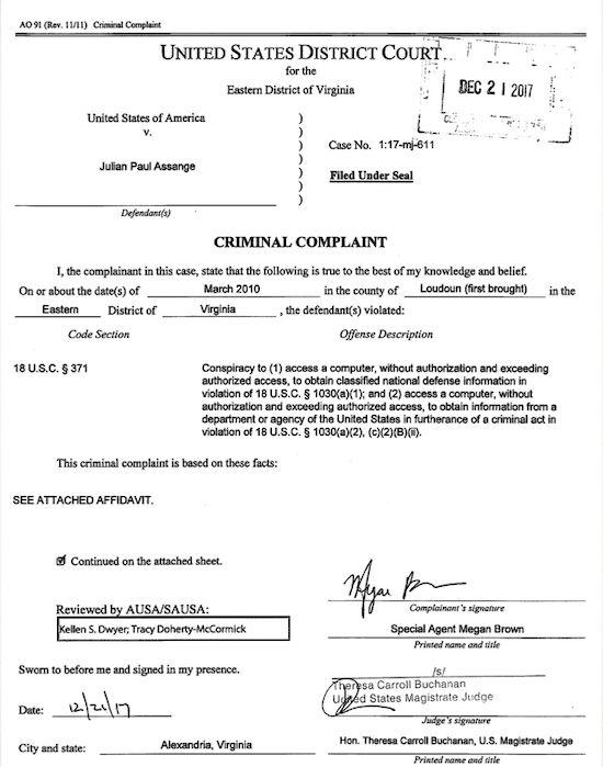 米支配層は自分たちの情報操作に邪魔なアッサンジを追起訴、懲役175年 ...
