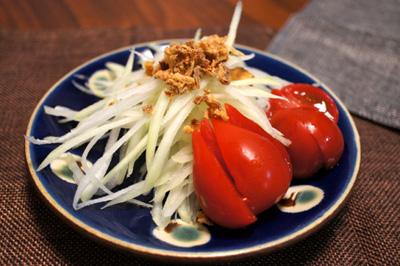 青パパイヤとミニトマト