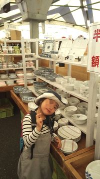 白山陶器 陶器市会場