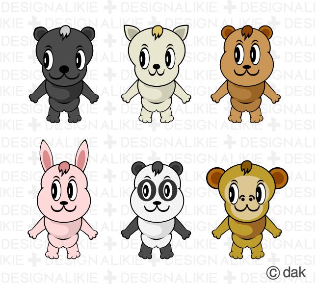 かわいい動物キャラクターのイラスト素材 Dak デザイン アバター
