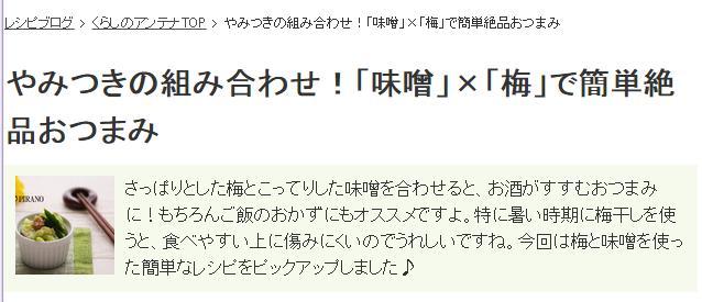 くらしのアンテナ_味噌×梅