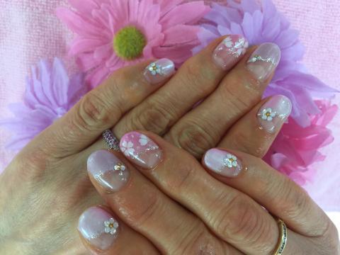 桜のジェルネイル1