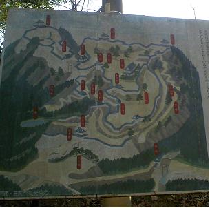 笠間城地図