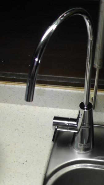レバーを左側にした場合 止水