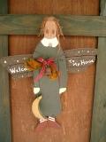 ドア人形(トールペイント)