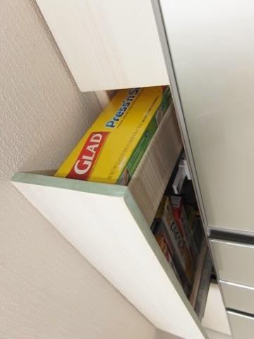 DIY 日曜大工 冷蔵庫 横 隙間 収納家具 収納 キッチン プッシュ