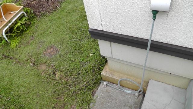 井戸の電源ケーブルを敷設しなおす
