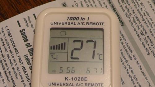 自動 CHUNGHOP K-1028E UNIVERSAL A/C REMOTE
