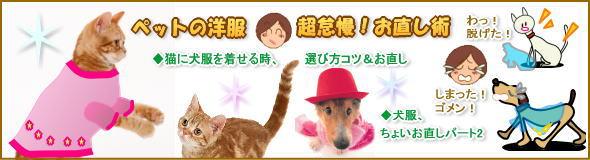 猫に犬服着せる時,犬猫洋服簡単お直し術