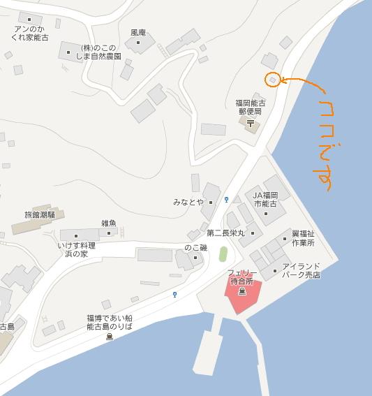 能古の曽島map